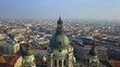 Budapest, Hungary - 4K aerial footage of drone flying over of beautiful St.Stephen's Basilica