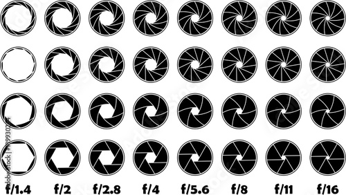 Aperture f-number illustration f/1.4-16 Canvas Print