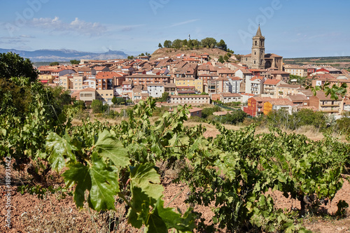 View of Navarrete village in La Rioja province, Spain.