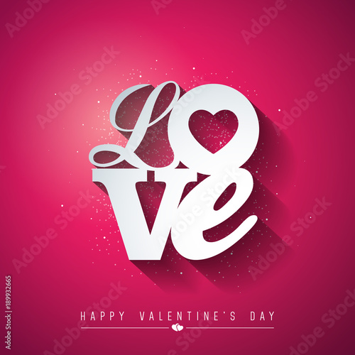 Valentines day design with love typography letter on red background valentines day design with love typography letter on red background vector wedding and romantic theme stopboris Images