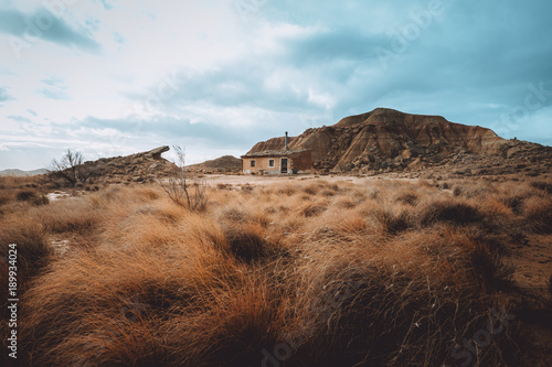 Small house and hill
