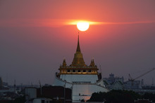 Golden Mount Temple In Bangkok...
