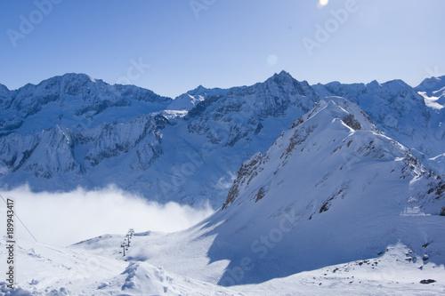 Panorama of Presena glacier