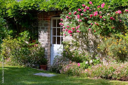 Maison > Jardin > Porte > fleurs Fototapete