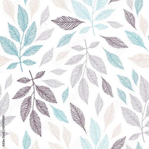 Stoffe zum Nähen Nahtloses Muster mit Hand gezeichnet Zweige.