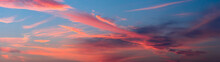Panorama Sky During Sunset In ...