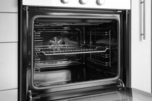 Empty Electric Oven In Kitchen...
