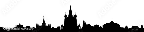 Moscow - stock vector Canvas Print