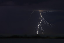 View Of Lightning Over The Lake
