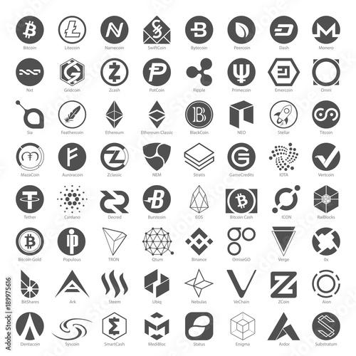Photo  Black Icons - Cryptocurrency