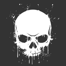 f3325cab162ba Grunge skull paint. Fantasy map elements illustration ...