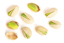 Pistachios Isolated On White B...
