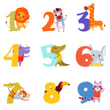 Colorful Numbers From 1 To 9 A...