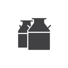 Milk Cans Icon Vector, Filled ...