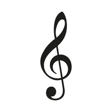 Treble Clef. Vector.