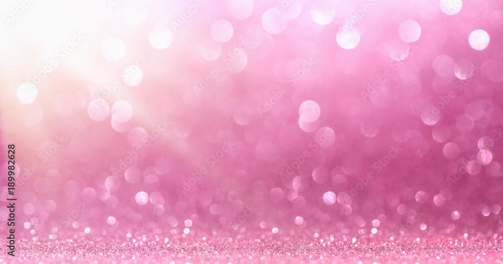 Fototapety, obrazy: Pink Glitter With Sparkle