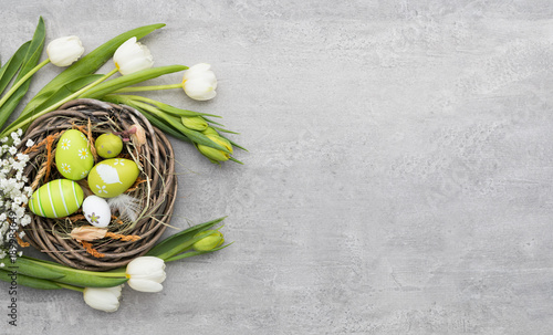Photo  Easter background concept.