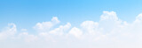 Fototapeta Na sufit - White cumulus clouds formation in blue sky