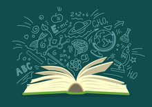 Open Book With Education, Scie...
