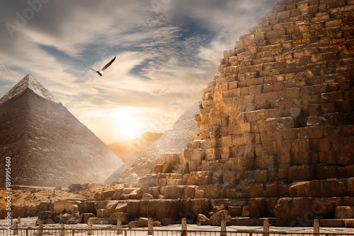 Recess Fitting Egypt Egyptian pyramids landscape