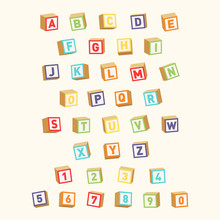 Alphabet With Numbers, Childis...