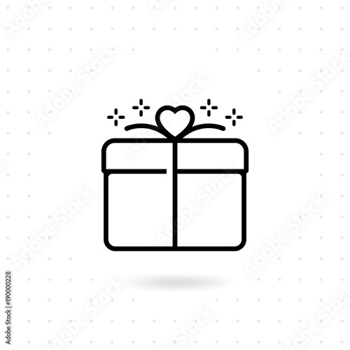 Gift Icon Gift Box Line Vector Icon Valentine Gift Box With Line Style Love Valentine Present Christmas Present Gift Box Vector Illustration Buy This Stock Vector And Explore Similar Vectors At