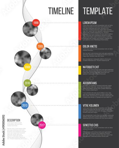 Fotografie, Obraz  Vector Infographic Company Milestones Timeline Template
