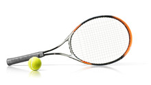 Sport. Tennis Racket And Ball....
