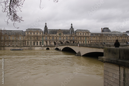 Fotografie, Tablou Paris - Crue de la Seine
