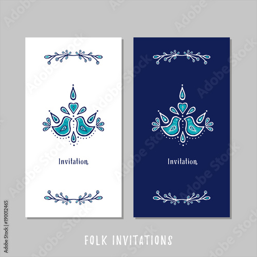 Fotografie, Obraz  FOLK INVITATIONS
