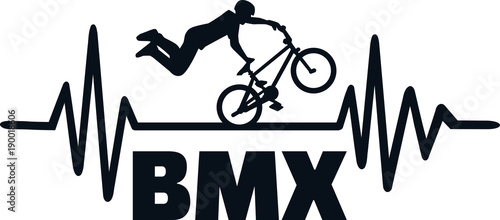 BMX heartbeat pulse Canvas Print