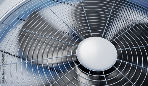 Photo Close up view on HVAC units (heating, ventilation and air conditioning)