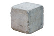 canvas print picture - cement block isolated on white background. Clipping path
