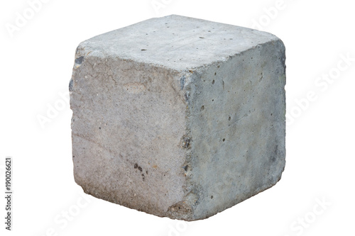 Photographie cement block isolated on white background. Clipping path