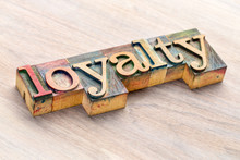 Loyalty Word Abstract In Wood ...