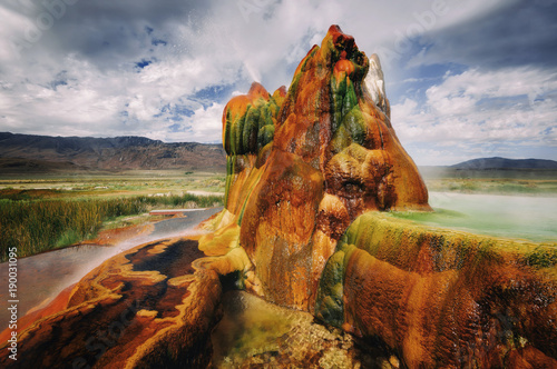 Fly Gyser Nevada Canvas Print