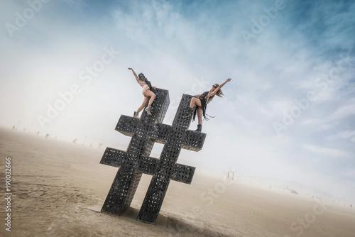 Canvastavla  Black Rock Desert, USA - 2nd of September 2016: Burning Man