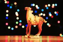 Tri-coloured Glazed Pottery Of The Tang Dynasty。Tang Sancai Glaze Horses
