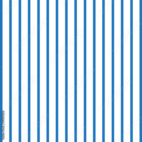 Fotografia  Seamless pattern with vertical blue and white lines