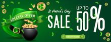 Saint Patrick's Day Sale Backg...