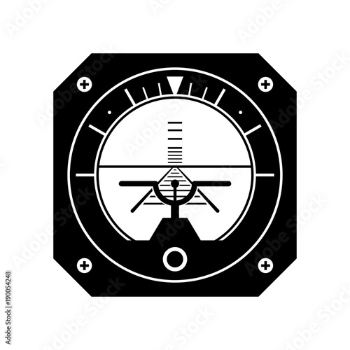 Attitude director indicator, shade picture Canvas Print