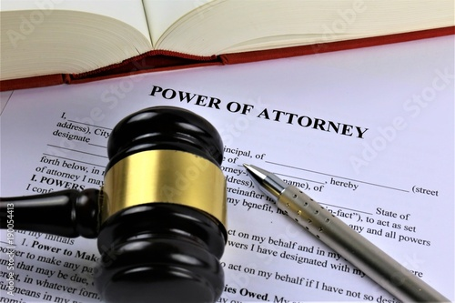 An concept Image of a power of attorney Fototapete