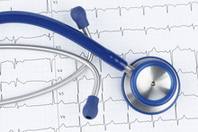 Stethoscope And Electrocardiog...