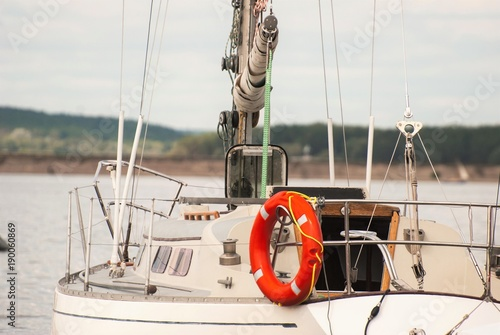 Spoed Foto op Canvas Natuur Row of luxury yachts mooring in a harbour
