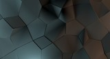 3D Rendering Of Abstract Shapes Low Poly Background - 190061224