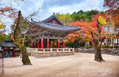 Pinturas sobre lienzo  Bulguksa temple in autumn, Gyeongju, Korea