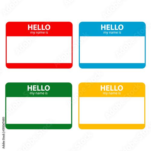Fotografía  Hello my name is