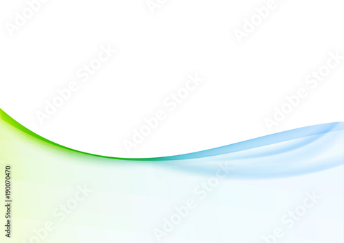Poster Abstract wave Minimalistic soft light abstract swoosh wave border layout