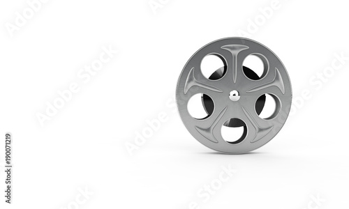 Film reel isolated on white background. 3d illustration Fototapet