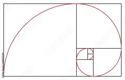 Golden ratio template Fotobehang